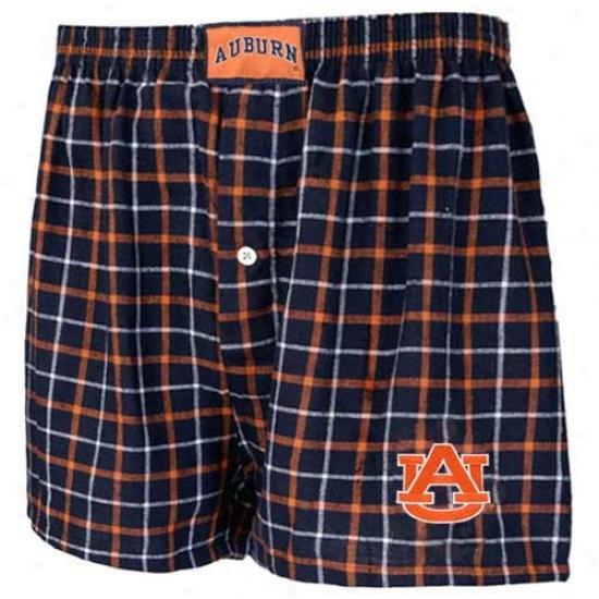 Auburn Tigers Navy Blue Gridiron Boxer Shorts