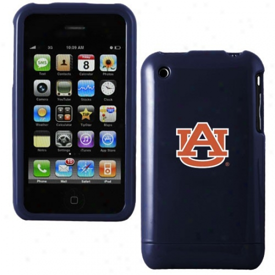 Auburn Tigers Navy Blue Team Logo Iphpne Case