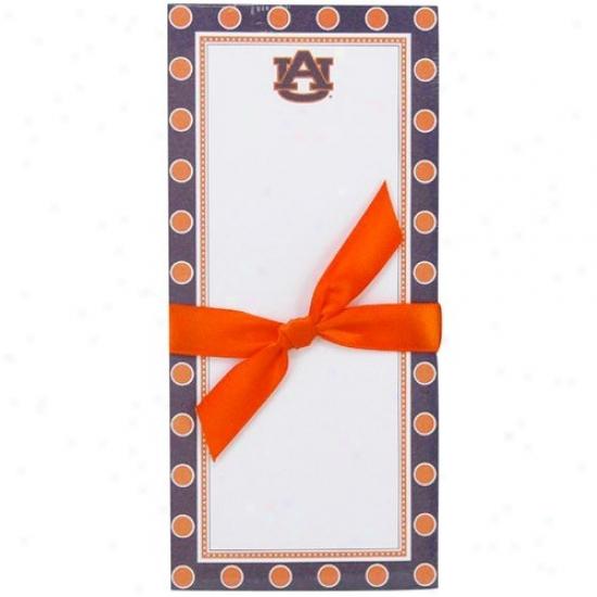 Auburn Tigers Polka Dot Magnetic Notepad