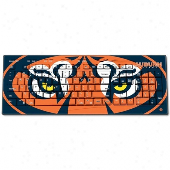 Auburn Tigers Usb Wireless Keyboard