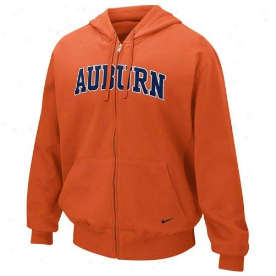 Auburn University Hoodies : Njke Auburn University Orange Classic Full Zip Hoodies Hoodies