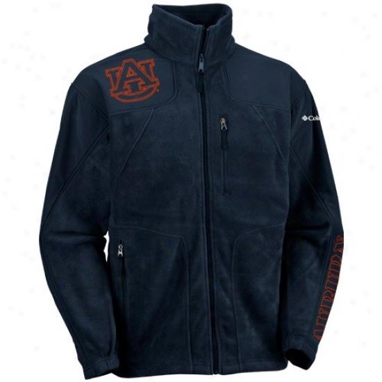 Auburn University Jacke5 : Columbia Auburn University Ships of war Blue Stormchaser Entire extent Zip Performance Jacket
