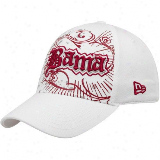 Bama  Caps : New Era Bama  White Burzt 39thirty Stretch Fit Caps
