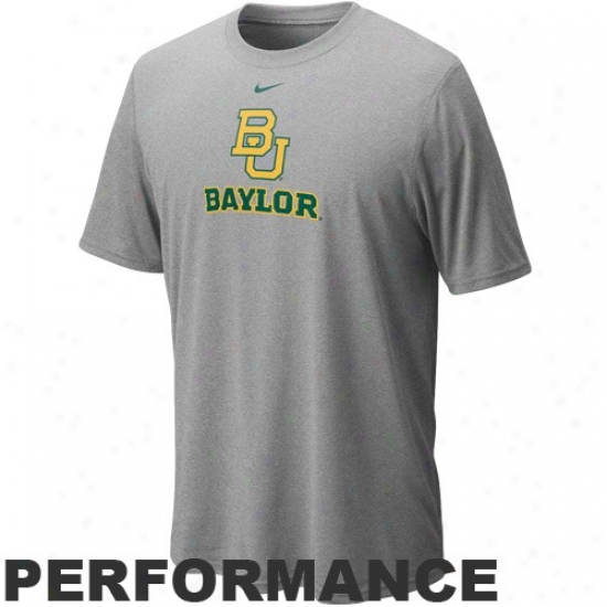 Baylor Bears Attire: Nike Baylor Bears Ash Legend Logo Performance T-shirt