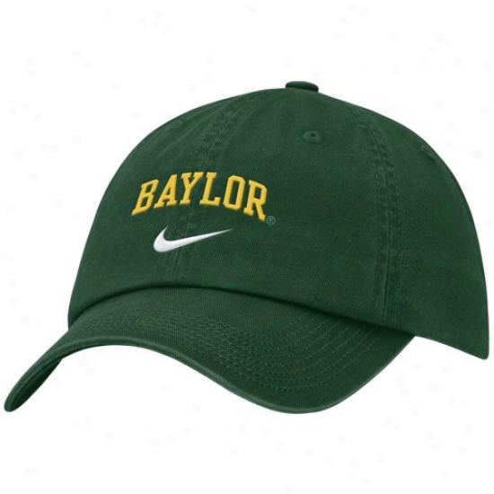Baylor Bears Cap : Nike Baylor Bears Green Campus Adjustable Cap