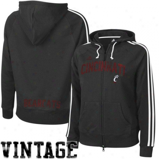 Bearcats Ooze Shirt : Adidas Bearcats Ladies Black College Town Full Zip Vintage Sweat Shirt