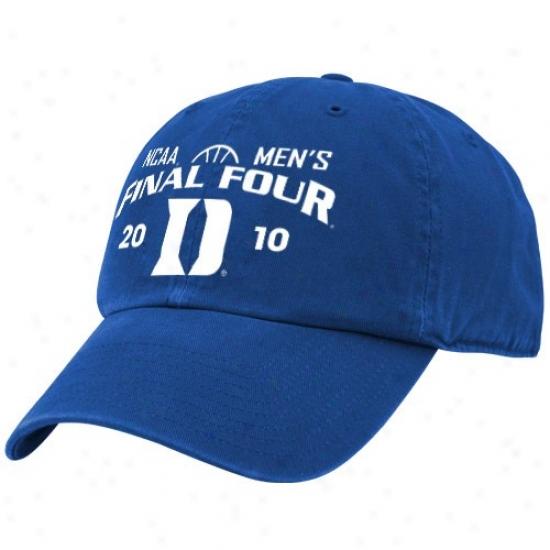 Blue Devils Hats : Twis '47 Blue Devils Duke Blue 2010 Ncaa Men's Basketball Final Four Bound Adjustale Slouch Hats