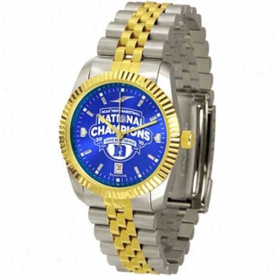 Blue Devils Wrist Watch : Blue Devils 2010 Ncaa Division I Men's Basketball National Champions Men's 2-tone Executive Anochrome Wrist Watch