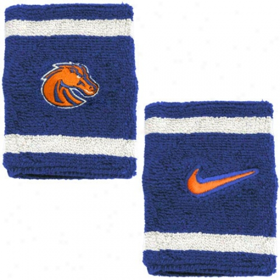 Boise State Merchandise: Nike Boise S5ate Royal Blue College Elite Wristbands