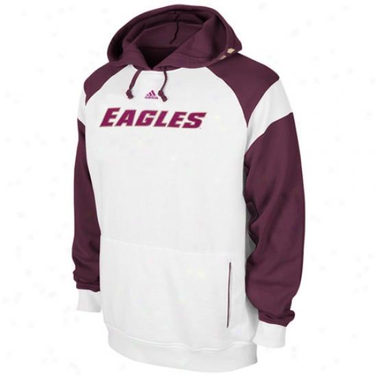Boston College Eagles Hoodie : Adidas Boston College Eagles White Helmet Ho0die