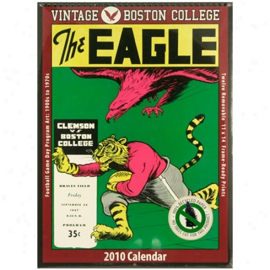 Boston College Eagles Vintage 2010 Football Program Calendar