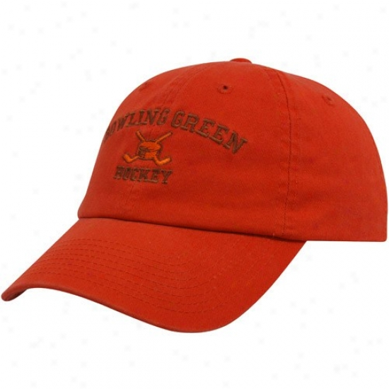 Bowling Green St. Falcons Cap : Top Of The World Bowling Green State Falcons Orange Hockey Sport Drop Adjustable Cap