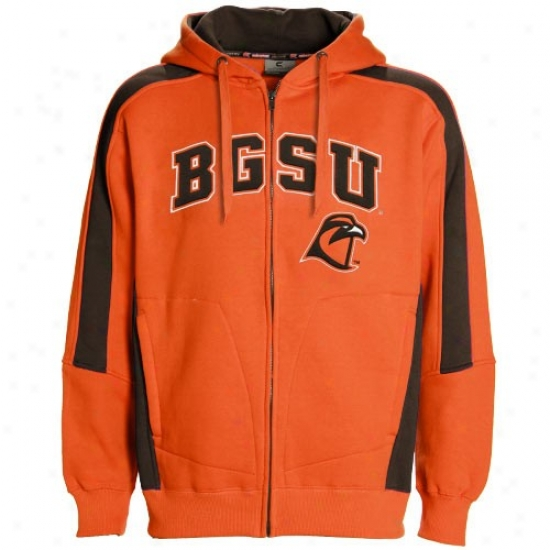 Bowling Green St. Falcons Hoody : Bowling Green State Falcons Orange Spiral Hoody