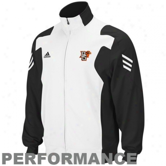 Bowling Unripe Sf. Falcons Jackets : Adidas Bowling Green State Falcons Black-white Scorch Full Zip Performance Warm-up Jackets