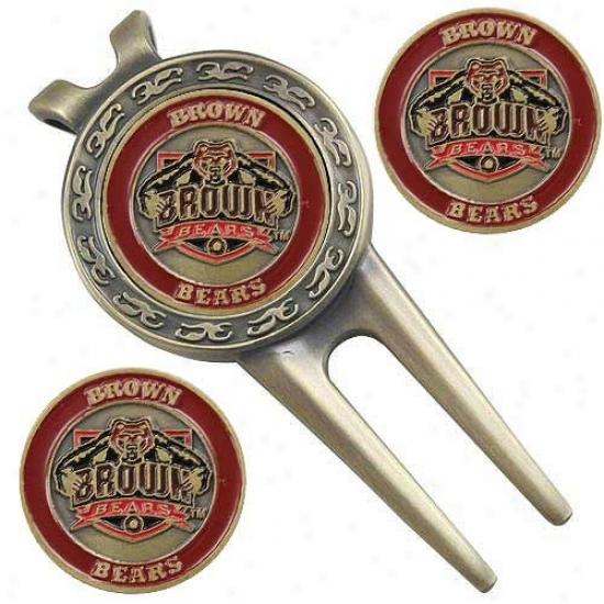 Brown Bears Divot Tool & Ball Marker Regular