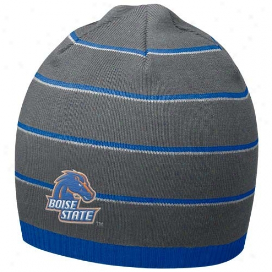 Bsu Broncos Cap : Nike BsuB roncos Charcoal Field Access Knit Beanie