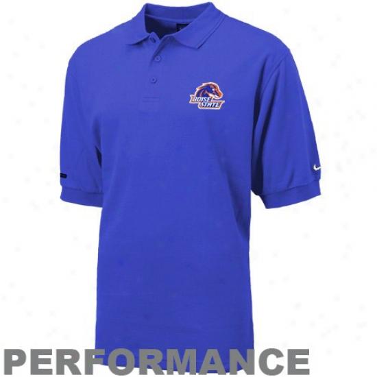 Bsu Broncos Clothing: Nike Bsu Broncos Kingly Blue Dri-fit Text Polo