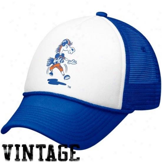 Bsu Broncos Merchandies: Nike Bsu Broncos White-royal Blue Vault Mesh Adjustable Trucker Hat