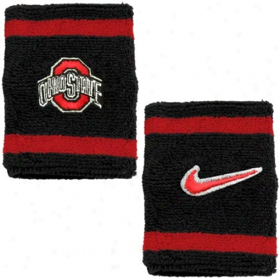 Buckeye Merchandise: Nike Buckeye Black College Elite Wristbands
