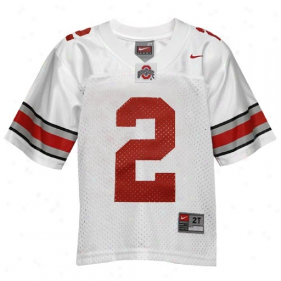 Buckeyes Jersey : Nike Buckeyes #2 Toddler White Replica Football Jersey