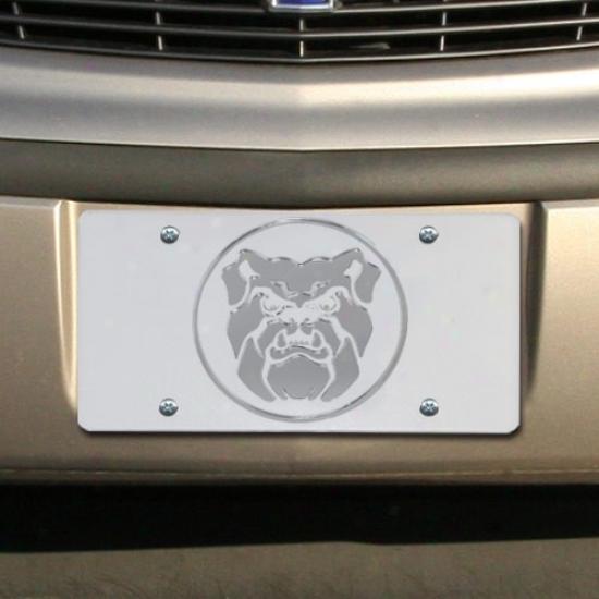 Butler Bulldogs Satin Mirrored Team Logo License Plate