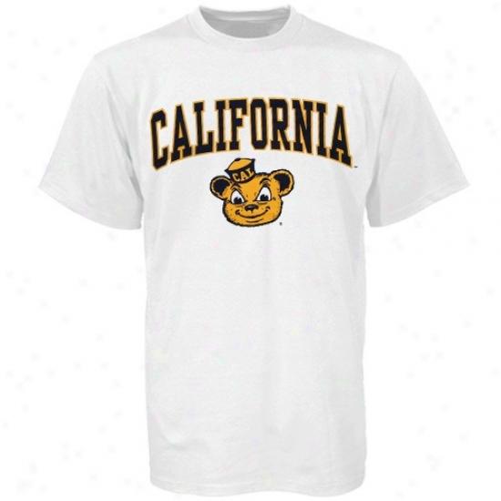 Cal Bears T-shirt : Cal Golden Bears Youth White Bare Essentials T-shirt