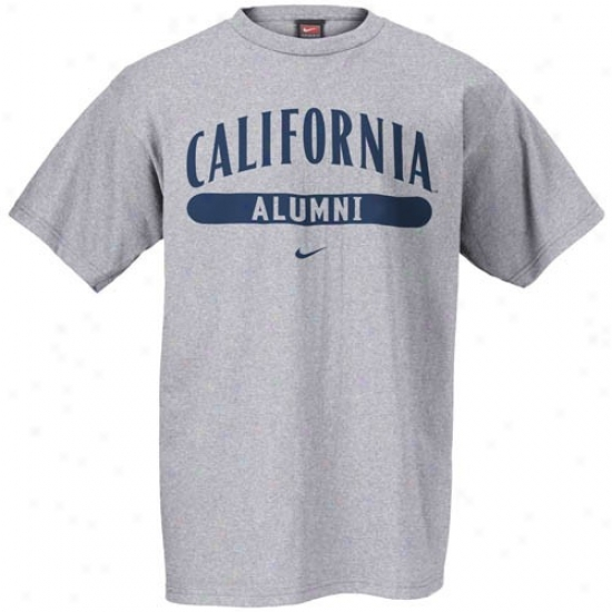 Cal Bears T Shirt : Nike Cal Golden Bears Ash Alumni T Shirt