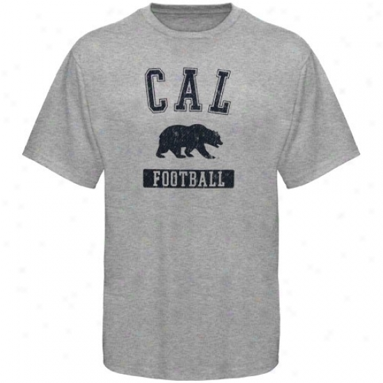 Cal Bears T-shirt : Sports Specialtiea By Nike Cal Golden Bears Ash Football T-shirt