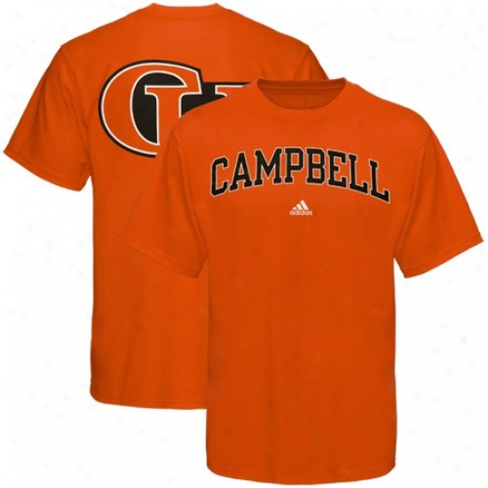 Campbell Fighting Camels Apparel: Adidas Campbell Fighting Camels Orange Relentless T-shirt