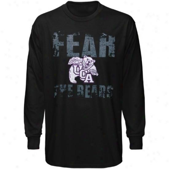 Central Arkansas Bears Attire: Central Arkansas Bears  Black Fear Long Sleeve T-shirt