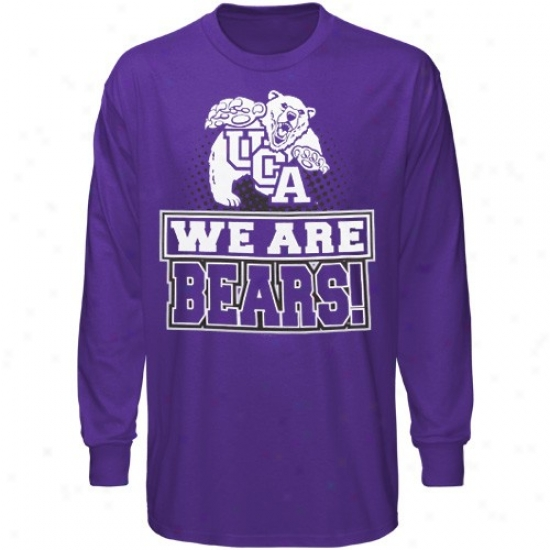 Central Arkansas Bears Tshirts : Central Arkansas Bears Purple We Are Long Sleeve Tshirts