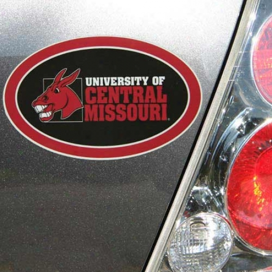 Central Missouri Mules Oval Magnet