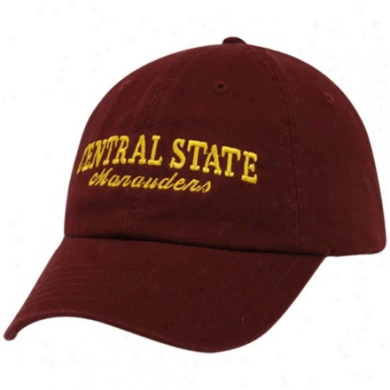 Central State Marauders Hat : Top Of The World Central State Marauders Maroon Batters Up Adjustable Hat