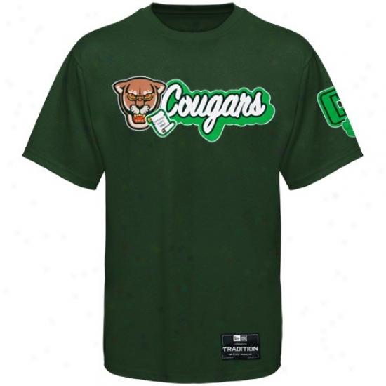 Chicago State Cougars T-shirt : New Era Chicago State Cougars Inexperienced Fresh Mascot Premium T-shirt
