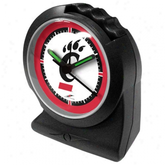 Cincinnati Bearcats Black Gripper Alarm Clock