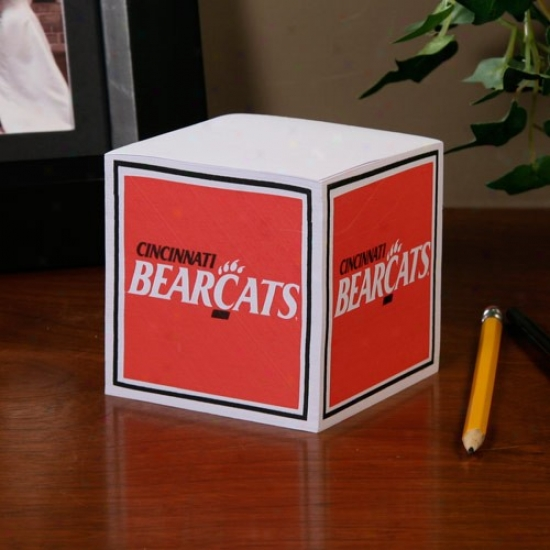 Cincinnati Bearcats Ncaa Cube Notepad