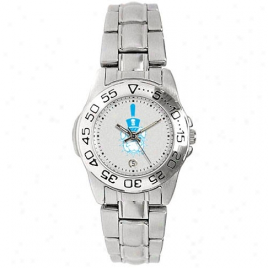 Citadel Bulldogs Watch : Citadel Bulldogs Ladies Gameday Sport Waatch W/stainless Steel Bandage