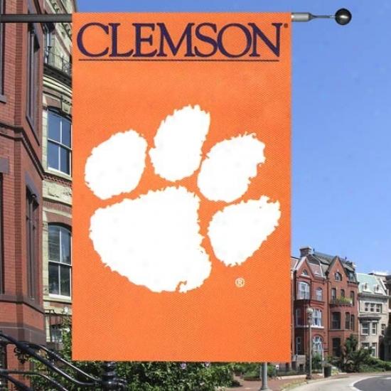 Clemson Flag : Clemson Applique Flag Flag