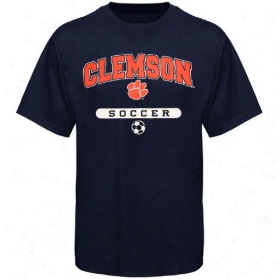 Clemson Shirts : Russell Clemson Navy Blue Soccer Shirts