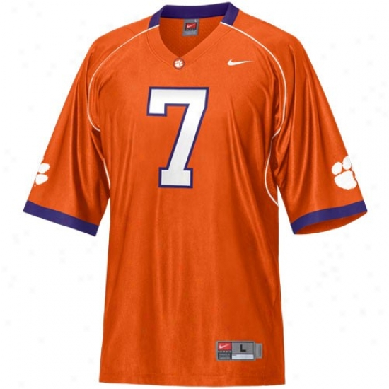 Clemson Tigers Jerseys : Nike Clemson Tigers #7 Replica Football Jerseys - Orange