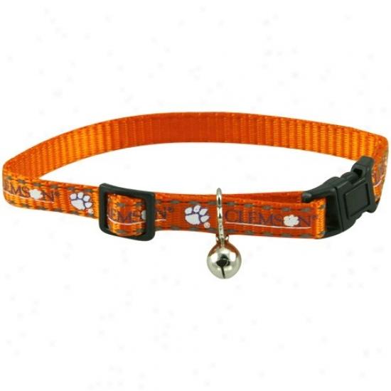 Clemson Tigers Orange Breakaway Cat Collar