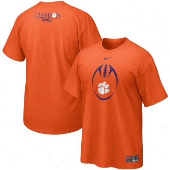 Clemson Tigers T Shirt : Nike Clemson Tigers Orange 2010 Team Issue T Shirt