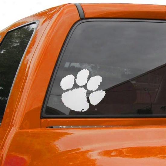 Clemson Tigers Team Logo Medium Window Cling