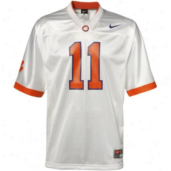 Clemson University Jerseys : Nike Clemson University #11 Replica Football Jersey-white