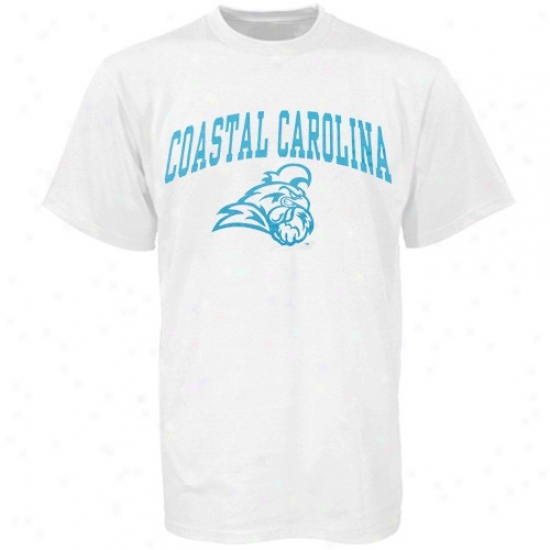 Coastal Carolina Chanticleers Apparel: Coastal Carolina Chanticleers White Bare Essentials T-shirt
