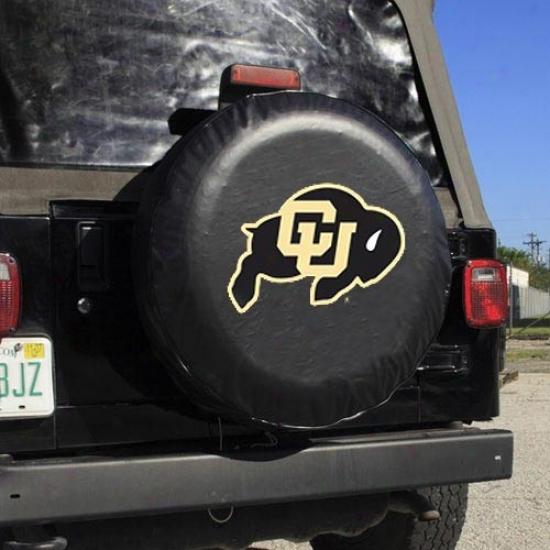 Colorado Buffaloes Dark Logo Tire Cover