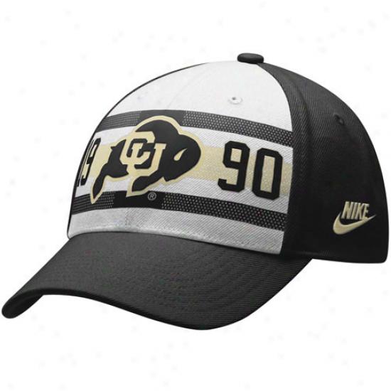 Colorado Buffaloes Gear: Nike Colorado Buffaloes  Black 20th Anniversary Bequest 91 Flex Fit Hat