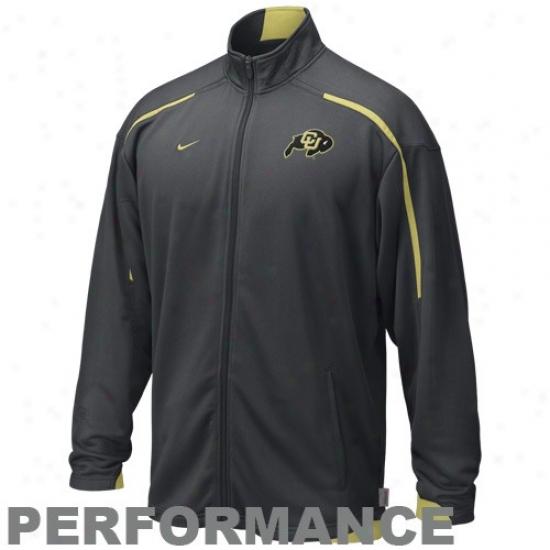 Colorado Buffalods Jacket : Nike Colorado Buffaloes Charcoal Trainijg Warm-up Composition Jacket