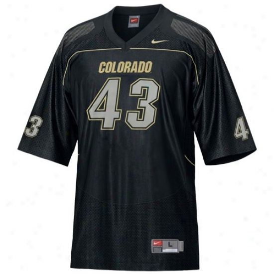 Colorado Buffaloes Jersey : Nike oClorado Buffaloe #43 Black Replica Football Jerseg