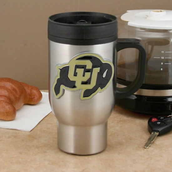 Colorado Buffaloes Stainless Steel Travel Mug
